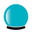 Magic crystal ball icon vector image