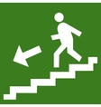 man ladder icon vector image