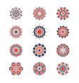 mehendi and arabic circular patterns geometric vector image