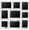 photo cardframefilm set retrovintage vector image
