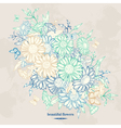Vintage floral background with chamomile flowers a vector image