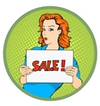 Woman sale banner vector image