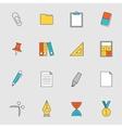School education flat line icons vol 2 vector image