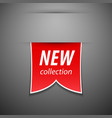 New collection tag vector image