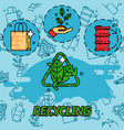 recycling flat concept icons vector image