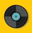 vinylin flat style with shadow vector image