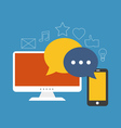 Social media concept Flat design stylish Isolated vector image