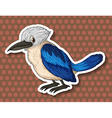 Blue bird on brown background vector image vector image