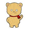 comic cartoon bear waving vector image