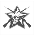 Soviet star in the form of a skull isolated on vector image vector image