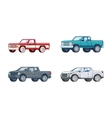 Colorful Pickup Truck Models Collection vector image