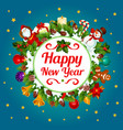 happy new year decoration greeting card vector image