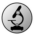 Microscope button vector image