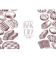 natural bakery product vintage poster vector image