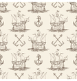 Sailship and Anchor Seamless pattern vector image