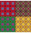 set of seamless backgrounds with vintage ornament vector image