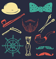 Vintage style design elements and icons vector image