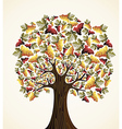 Wine and grapes tree vector image