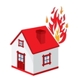Fire in the house4 resize vector image vector image