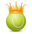 Tennis ball in crown vector image vector image