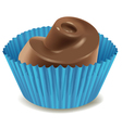 chocolates in blue cup vector image vector image