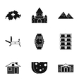 Holiday in Switzerland icons set simple style vector image