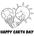 happy earth day style hand draw vector image