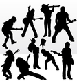 rock star silhouettes vector image