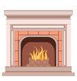 Simple Fireplace Design vector image vector image