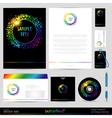 Template Background Design elements vector image