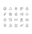 Line Fabric Feature Icons vector image