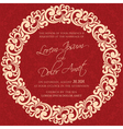invitation red with round element vector image