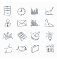 business sketch icons vector image
