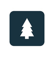 Fir-tree icon Rounded squares button vector image