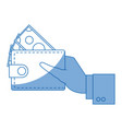 hand with wallet money bill cash vector image