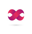 Letter X infinity loop logo icon design template vector image