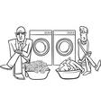 money laundering cartoon vector image