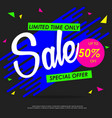 Sale colorful banners design template vector image