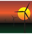 wind energy vector image