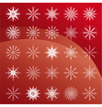 Set of white snowflakes vector image vector image
