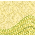 Abstract pattern and leaves vector image