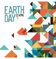 earth day 22 april holiday poster abstract vector image vector image