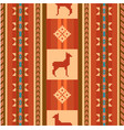 ornamental ethnic pattern with lamas vector image
