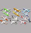 isometric aeroplane 3d aircraft plane vector image