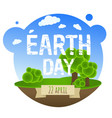 earth day card with trees vector image vector image
