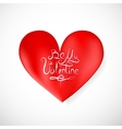 Heart shape as Valentines Day symbol vector image