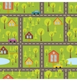 colourful seamless pattern with streets and roads vector image