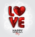 valentine card with paper hearts 4 vector image