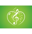 Heart rom musical notes Vector Image