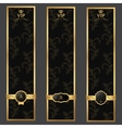 Vip banner background dark gray and gold with vector image